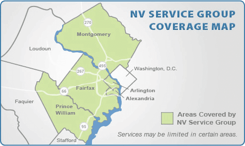 Coverage Map for NV Service Group